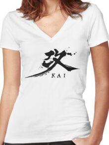 Play Arts Kai Logo - Black Women's Fitted V-Neck T-Shirt