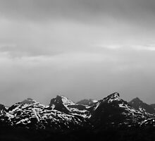 Black & White Mountains Tromsø, Norway 2012 by YorkStCreative