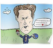 Secrétaire au Trésor américain Timothy GEITHNER caricature politique Poster