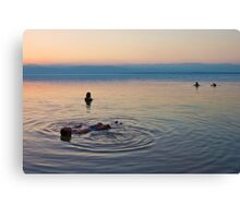 Floating at the lowest point on Earth Canvas Print