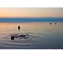 Floating at the lowest point on Earth Photographic Print