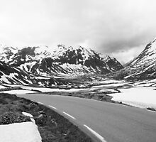 Road Rv64 Black and White, Norway 2012 by YorkStCreative