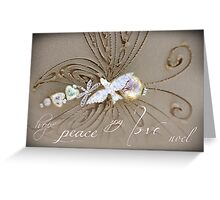 Peace Love Noel Greeting Card