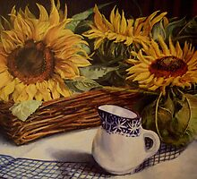Tony's sunflowers by Beatrice Cloake Pasquier