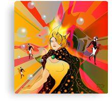 Princess of light beams Canvas Print