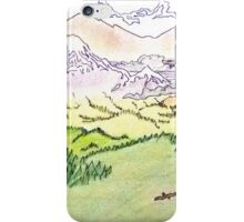 The mountain peaks color iPhone Case/Skin