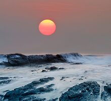 Red October - Currumbin Gold Coast Australia by Beth  Wode