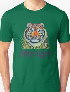 Little Tiger Peeking Through Grass T-Shirt