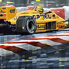 Lotus 99T 1987 Ayrton Senna by Yuriy Shevchuk