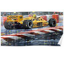 Lotus 99T 1987 Ayrton Senna Poster