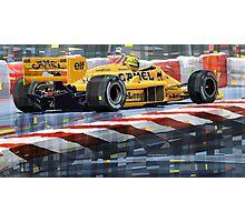 Lotus 99T 1987 Ayrton Senna Photographic Print