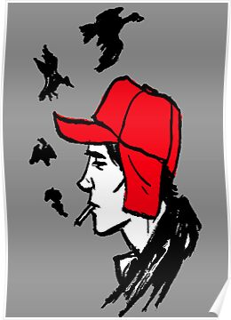 Red Hunting Cap by lynchboy
