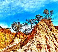 Pink Cliffs Reserve - Heathcote VIC by Ann Barnes