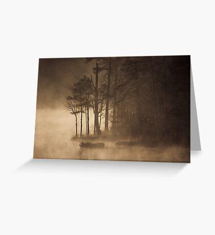 Golden Sunrise, Jordan Lake, NC Greeting Card