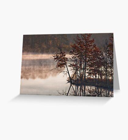 Morning, Jordan Lake, NC Greeting Card
