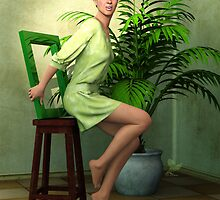 Potted Palm Tree by Annie Altherr