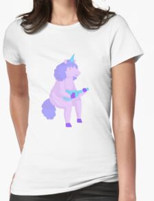 pastel unicorn! Womens Fitted T-Shirt