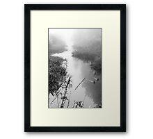 By the stream Framed Print