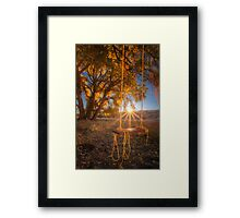 Sunset Swing Framed Print