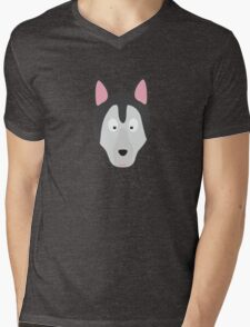 Cute Dog Face Mens V-Neck T-Shirt
