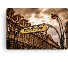 Metro of Paris near The Louvre Canvas Print