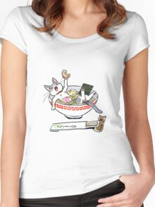 funny cat Women's Fitted Scoop T-Shirt