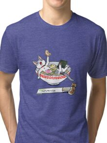 funny cat Tri-blend T-Shirt