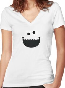 """Muppets """"Cookie Monster"""" Women's Fitted V-Neck T-Shirt"""