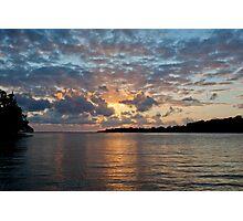 Sunset on water, Vanuatu, South Pacific Ocean Photographic Print