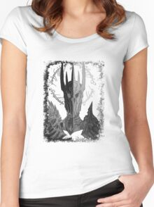 Two faces of Sauron Women's Fitted Scoop T-Shirt