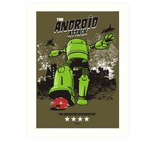 ANDROID ATTACK Art Print