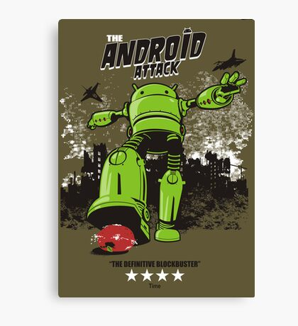 ANDROID ATTACK Canvas Print