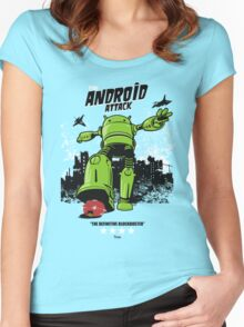 ANDROID ATTACK Women's Fitted Scoop T-Shirt