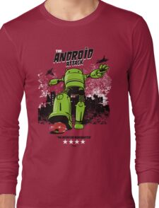 ANDROID ATTACK Long Sleeve T-Shirt