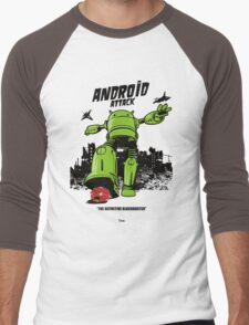 ANDROID ATTACK Men's Baseball ¾ T-Shirt