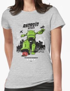 ANDROID ATTACK Womens Fitted T-Shirt