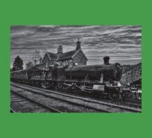 Great Western Railway Engine 2857 - Black and White Version Baby Tee