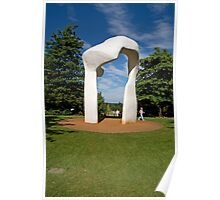 Henry Moore Sculpture in RHS Wisley Poster