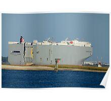 Chesapeake Highway Cargo Ship Poster
