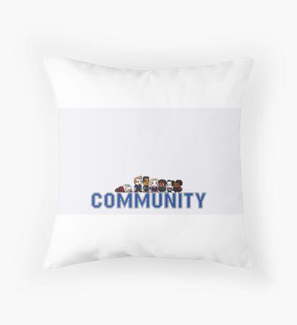 Community 8 bit Throw Pillow