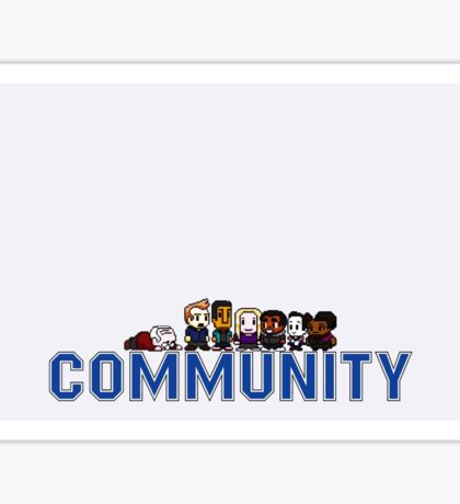 Community 8 bit Sticker