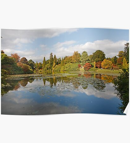 Autumn colours at Sheffield Park Poster