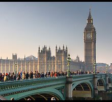 Westminster Bridge and the Houses of Parliament, London by jonshock