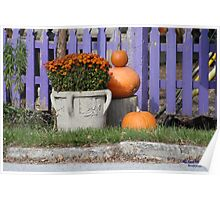 Purple picket fence Poster