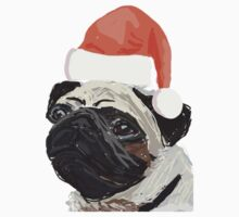 Christmas Pug Design by EmmaCossey