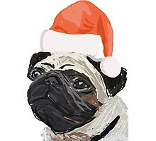 Christmas Pug Design Photographic Print