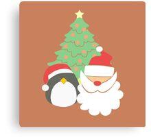 Santa & Penguin #3 Canvas Print