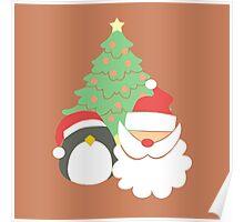 Santa & Penguin #3 Poster