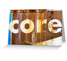 core Greeting Card
