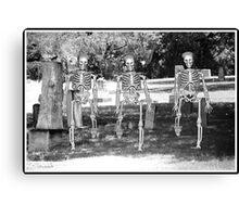 Cemetery Skeletons  Canvas Print